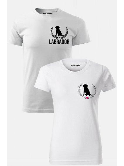 Labrador par Kruh Listy bílá