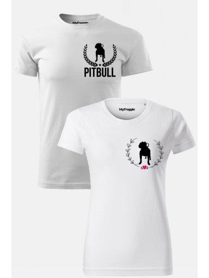 Pitbull par Listy Kruh bílá