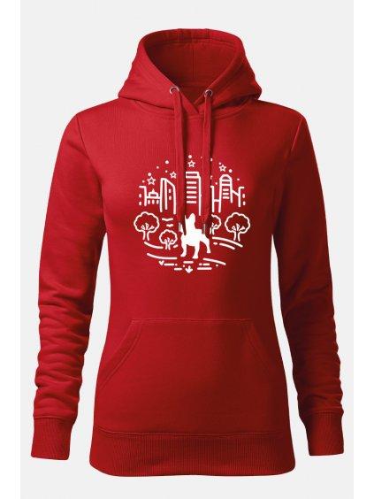Mikiny Město ona červená