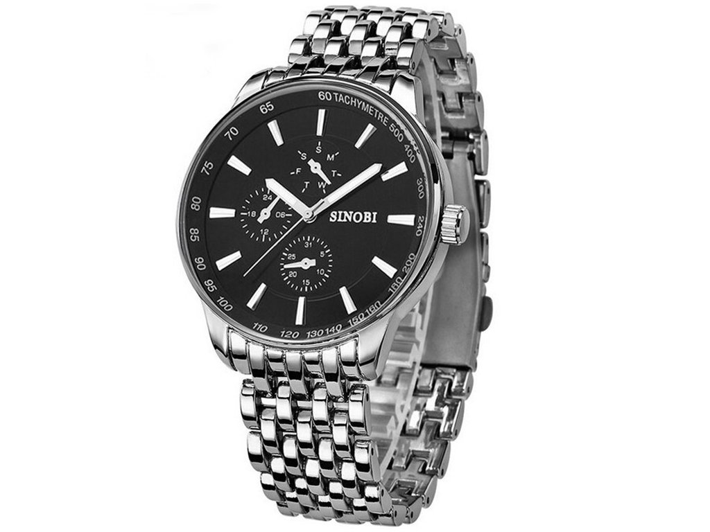 Celokovové pánske hodinky sinobi strieborné jpg 1024x768 Panske hodinky  velke f050cd6d03