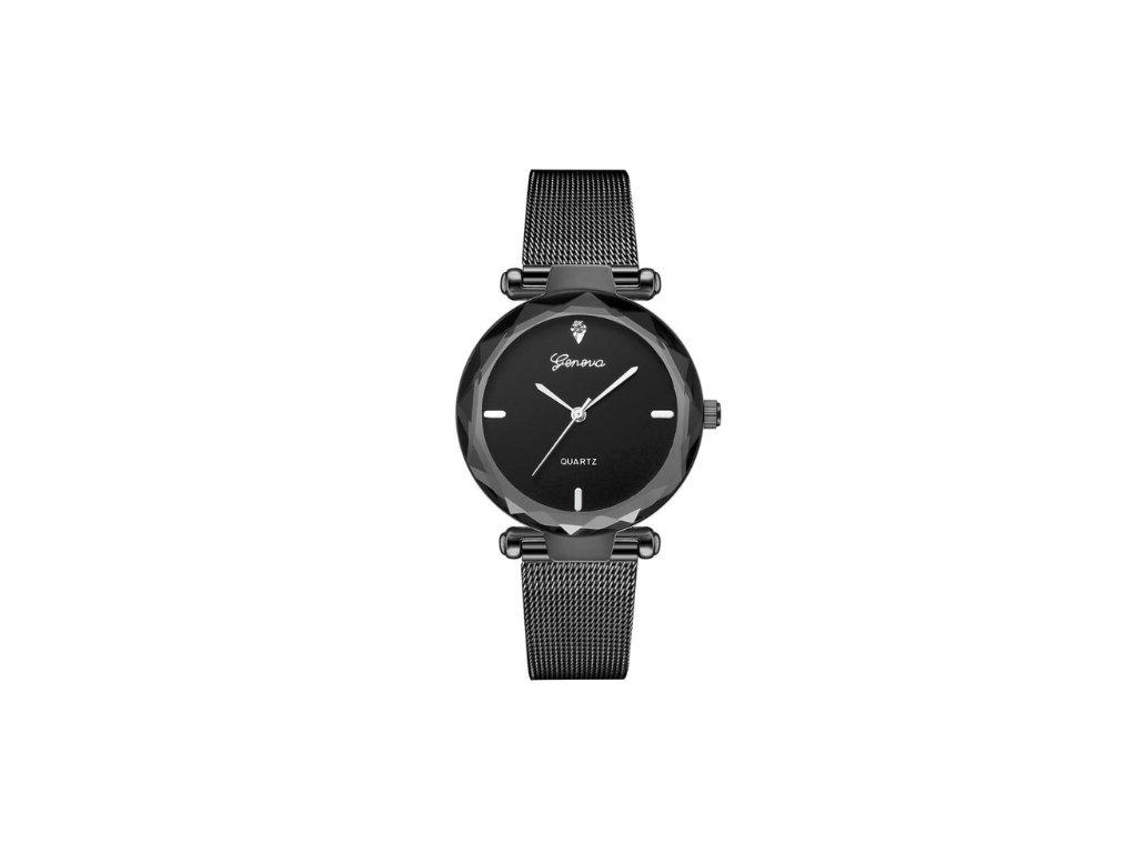 Dámske hodinky Zn. Geneva - čierne - myElegans.sk 8b58284c11c