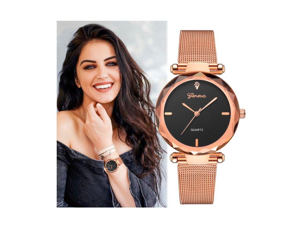 9861353bb31 silver black1 Bez názvu na ruke2 na ruke. Celokovové elegantné dámske  hodinky.