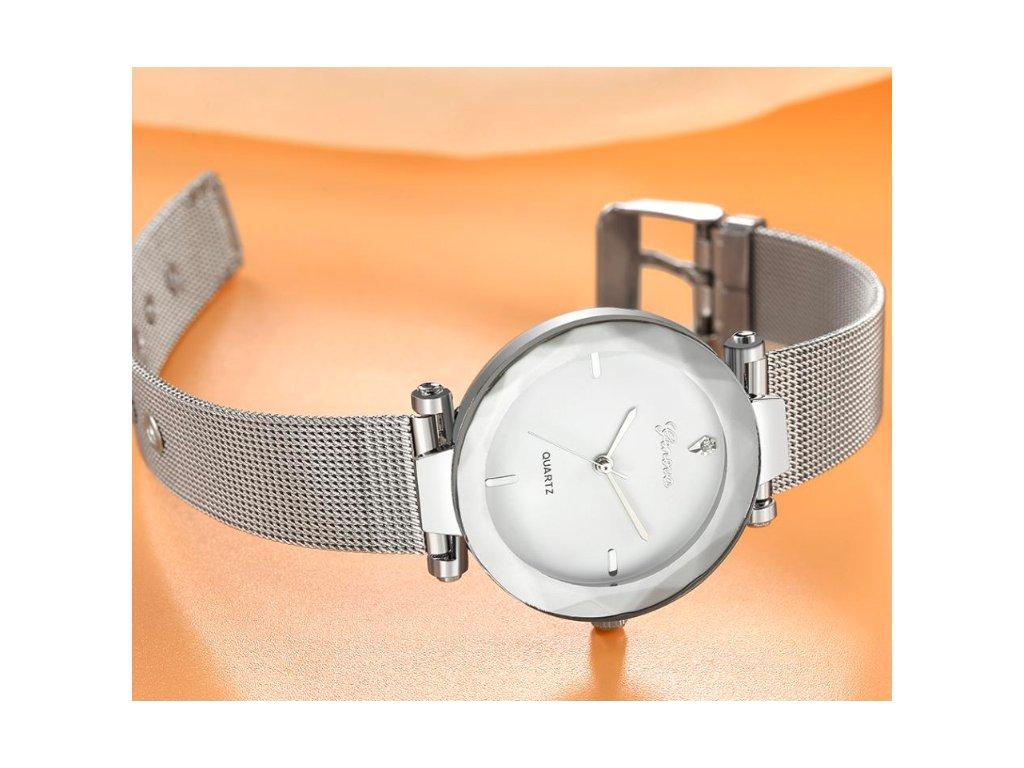 16bf43d2ae7 Dámske hodinky Zn. Geneva - strieborné - myElegans.sk