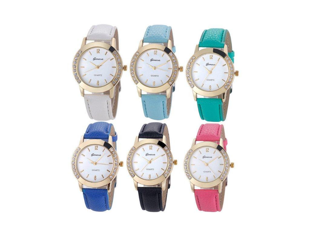 Dámske hodinky s kamienkami Geneva modré - myElegans.sk 3f98598f8a4