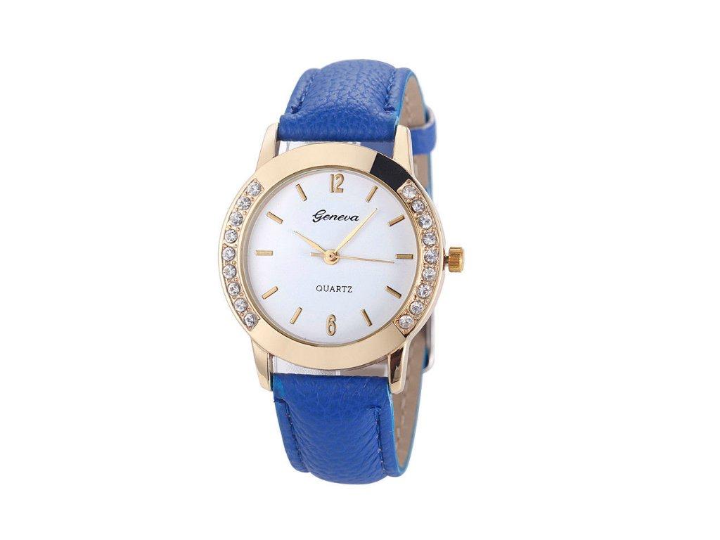Dámske hodinky s kamienkami Geneva modré - myElegans.sk d1f665352dd