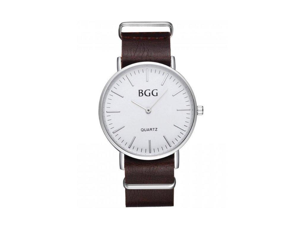 d94aa9b72 1 z 4. polozene hnede tmave brown na ruke. Elegantné klasické pánske hodinky  ...