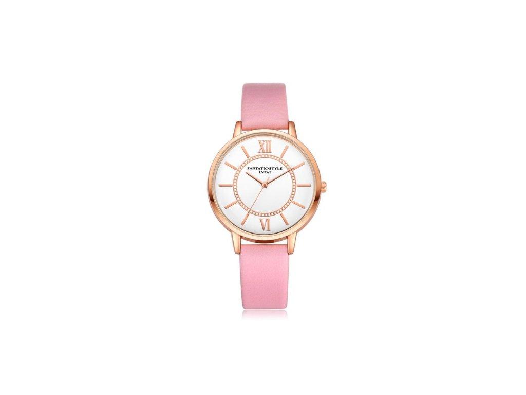 f3e47f457 Elegantné hodinky Zn. Lvpai - ružové - myElegans.sk