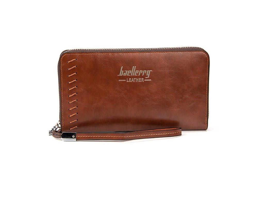 Atraktívna veľká peňaženka dámska pánska - hnedá - myElegans.sk d611ff0a574