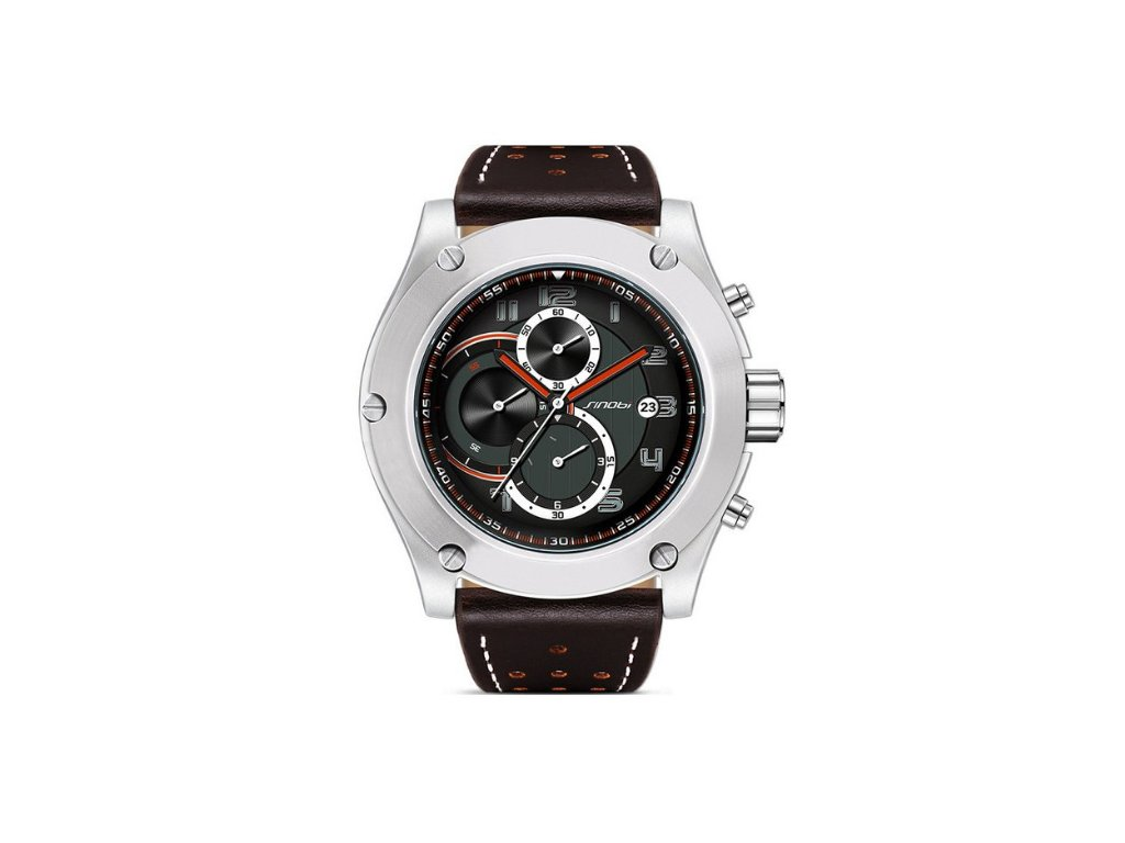 05779f97e Atraktívne pánske hodinky zn. Sinobi, hnedé s chronografom a dátumom - hnedé