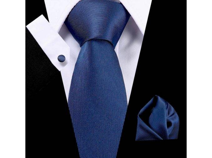 Kravatový set modrý