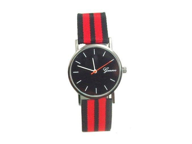 X DOPREDAJ Módne unisex hodinky na nylonovom remienku X