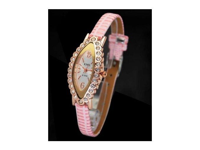 X DOPREDAJ Módne menšie hodinky elegantné dámske s kamienkami, menšie X
