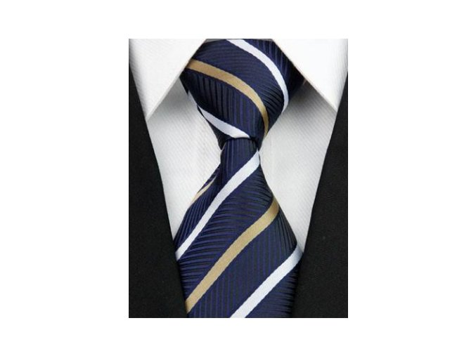 Pánska kravata modrá s pruhmi