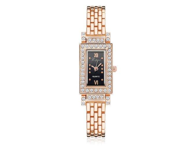 Elegantné hodinky Zn. LVPAI II - ružové zlato