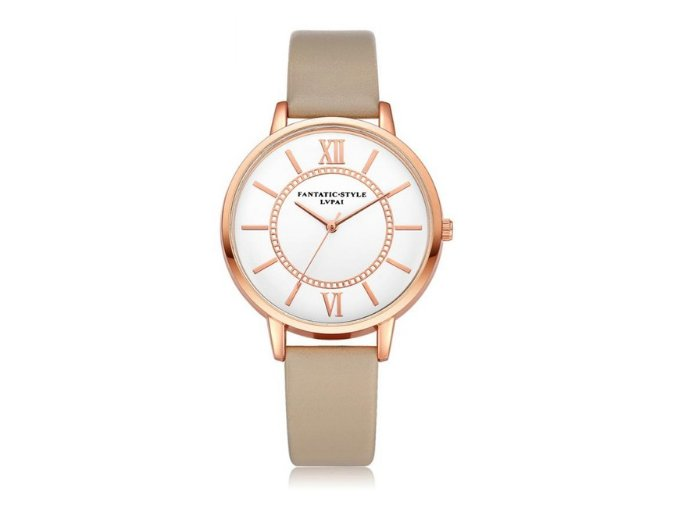 Elegantné hodinky Zn. Lvpai - beige