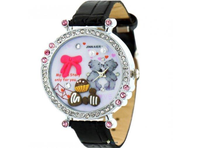 módne hodinky Dievčenské s macíkmi