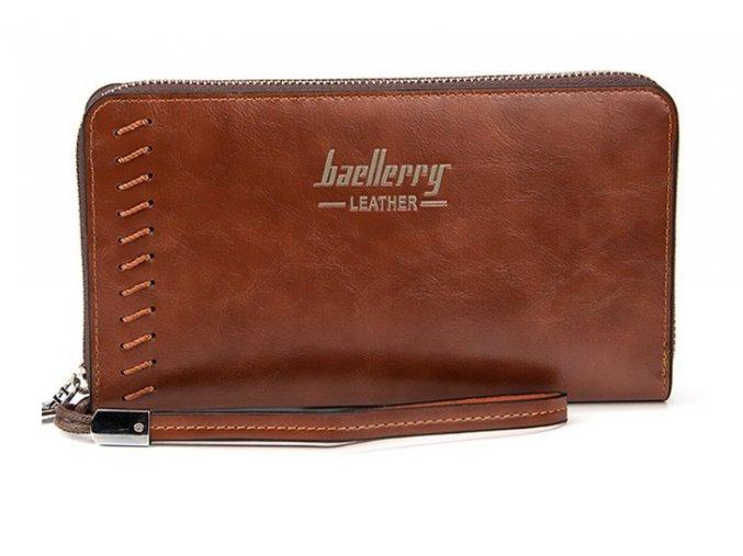 Atraktívna veľká peňaženka dámska/pánska - hnedá