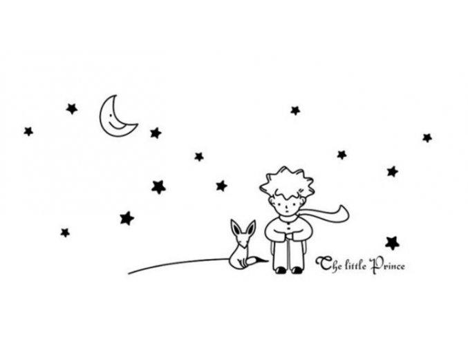 Nálepka na stenu - Malý princ