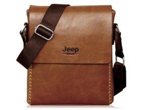 Cross body taška z eko kože Jeep - hnedá prešívaná