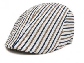 Pánska čiapka bekovka - bielo modro béžová