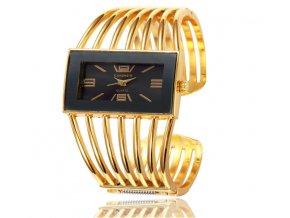 Atraktívne módne dámske hodinky Cansnow zlaté
