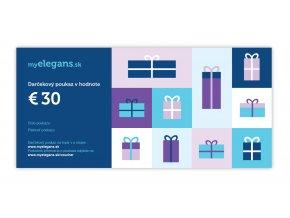 .Darčekový poukaz v hodnote 30,- EUR
