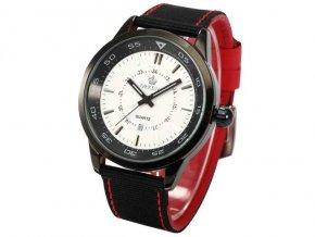 Módne voľnočasové hodinky zn. Orkina s dátumom, biely ciferník