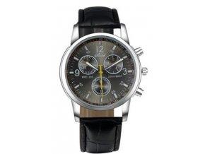 Elegantné pánske hodinky s tmavým ciferníkom