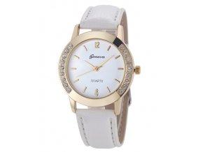 Dámske hodinky s kamienkami Geneva biele 6dbfdf2634a