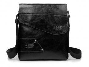 Cross body taška z eko kože Jeep čierna