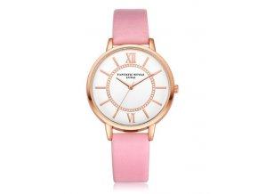 Elegantné hodinky Zn. Lvpai - ružové