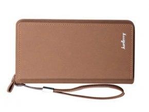 Atraktívna veľká peňaženka dámska/pánska - hnedá matná