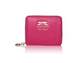 Dámska peňaženka z PU kože malá - ružovo - červená