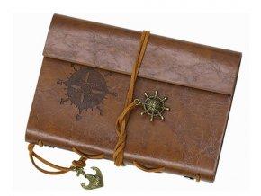 Cestovný denník v štýle vintage - hnedý