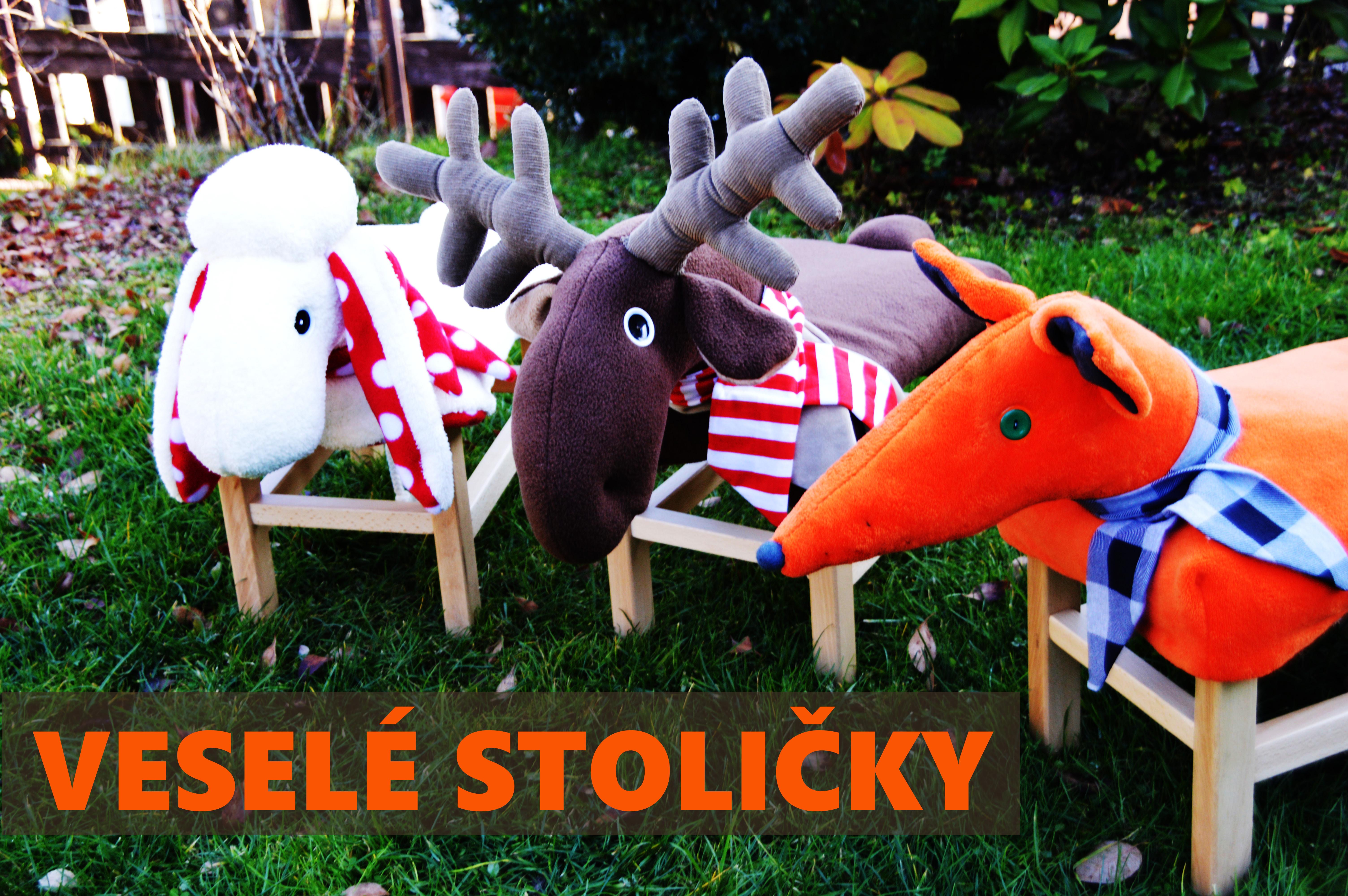 Veselé stoličky - zvířecí kamarád pro vaše děti