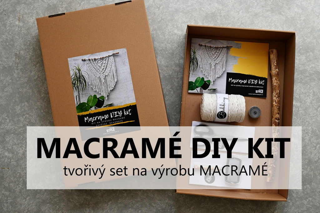 Macramé DIY kit - tvořivý set na výrobu macramé