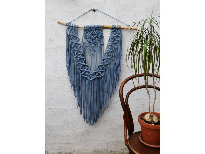 Macramé denim XL