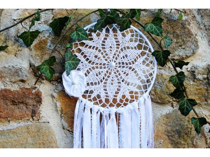 Lapač snů v BOHO stylu FLEUR - bílý L