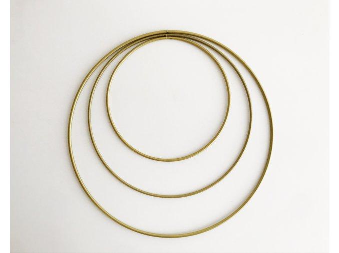 Kovové kruhy 15 - 25 cm - zlaté