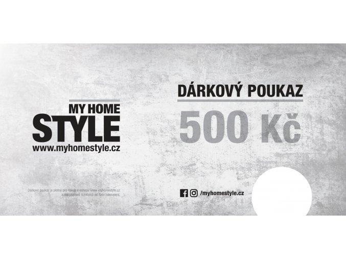 myhomestyle darkovy poukaz DL 500 tisk s poznamkou