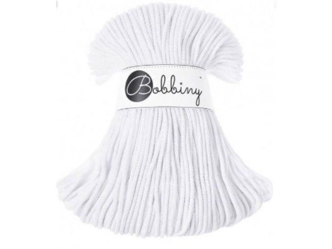 Bobbiny Junior - BÍLÁ white 3 mm