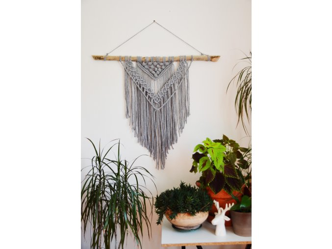 Macramé grey  XL