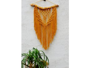 Macramé mustard light L
