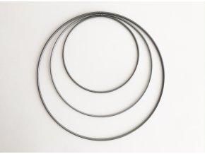 Kovové kruhy 15 - 25 cm - stříbrné