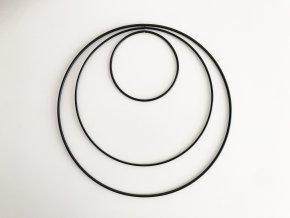 Kovové kruhy 10 - 25 cm - černé