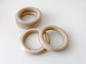 Dřevěný kroužek BUK - průměr 50 mm (vnitř. průměr 35 mm)