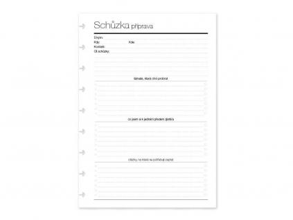 Zápisník SCHŮZKY