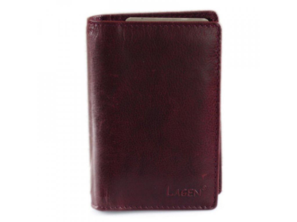 Lagen peněženka-dokladovka vínová