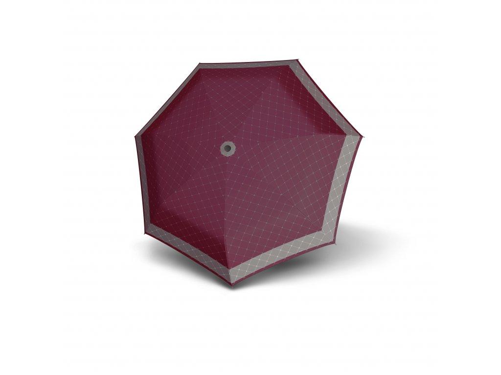 Doppler dámský skládací deštník Carbonsteel Mini XS RETE vínový