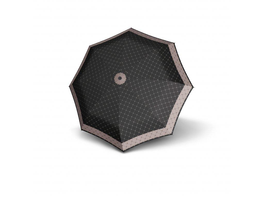 Doppler dámský skládací deštník Carbonsteel Mini XS RETE černý
